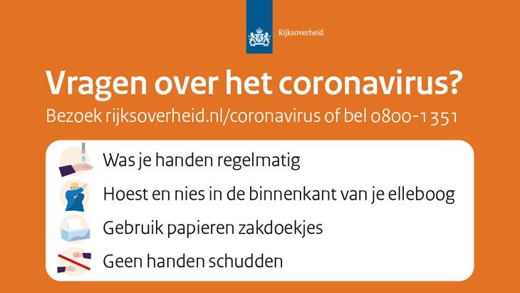 Maatregelen omtrent het Coronavirus