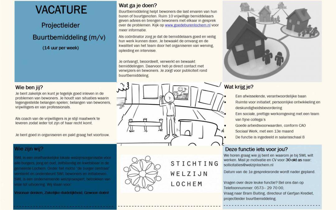 Vacature projectleider buurtbemiddeling