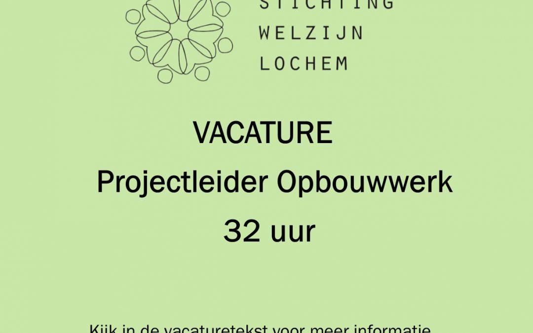 Vacature: projectleider Opbouwwerk (32 uur per week)